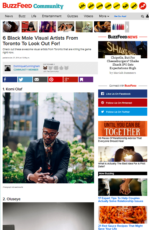 http://www.buzzfeed.com/dominquecunningham/6-black-male-toronto-artists-to-look-out-for-1a77x?fb_action_ids=10152532843187751&fb_action_types=og.shares#.ccA1AWlXY