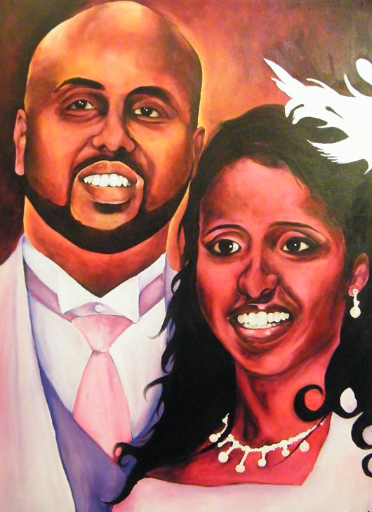 commissioned work -wedding portrait