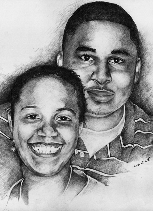 commissioned work- couple portrait
